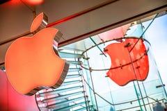 Apple Store äpplen fotografering för bildbyråer