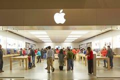 Apple Store και λογότυπο Στοκ φωτογραφία με δικαίωμα ελεύθερης χρήσης