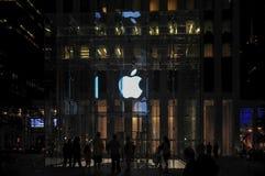 Apple Store - Πέμπτη Λεωφόρος NYC Στοκ εικόνες με δικαίωμα ελεύθερης χρήσης