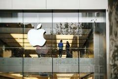 Apple Store στη Γερμανία, Φρανκφούρτη Στοκ Εικόνα
