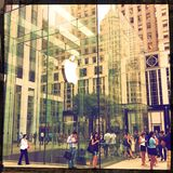 Apple store on 5th avenue Royalty Free Stock Image