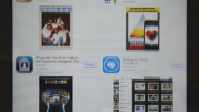 Apple store application on iPad display Stock Photography