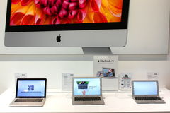 MacBook Air in Apple store Stock Image