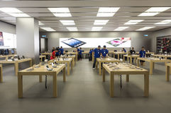 Apple Store is beginning open Royalty Free Stock Image