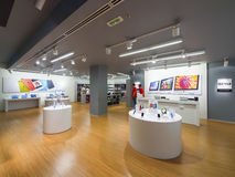 Apple store. BELGRADE, SERBIA - Nov. 16, 2013: new Apple iStyle store interior, T.C USCE , on November 16, 2013. The ideal usage of this image might be both for Royalty Free Stock Photography