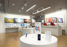 Apple store. BELGRADE, SERBIA - Nov. 16, 2013: new Apple iStyle store interior, T.C USCE , on November 16, 2013. The ideal usage of this image might be both for royalty free stock images