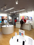 Apple store. BELGRADE, SERBIA - Nov. 16, 2013: new Apple iStyle store interior, T.C USCE , on November 16, 2013. The ideal usage of this image might be both for royalty free stock photo