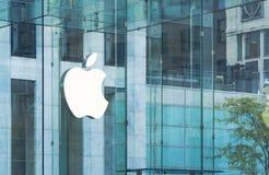 Apple Store berechnen auf 5. Allee, New York Rauminhalt Lizenzfreie Stockbilder