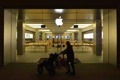Apple Store-Buitenkant Stock Afbeelding