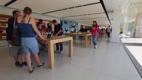 Apple Store California stock video footage
