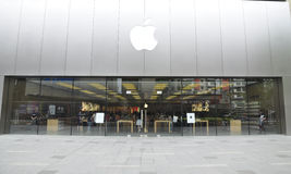Apple store. In chengdu china royalty free stock photo