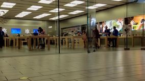 Apple store in Coquitlam Center Mall stock video footage