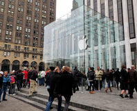 Apple Store in de Stad van New York Stock Foto