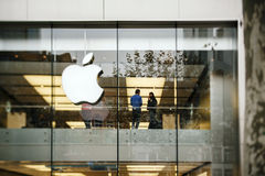 Apple Store in Deutschland, Frankfurt Stockbild