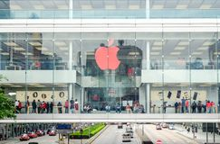 Apple Store dichtbij Hong Kong-post, Hong Kong, China Royalty-vrije Stock Afbeeldingen