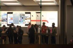 Apple Store Display Royalty Free Stock Photos