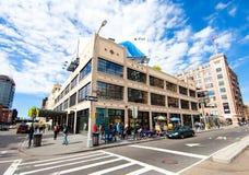 Apple Store en el districto de la industria cárnica de Nueva York Imagenes de archivo