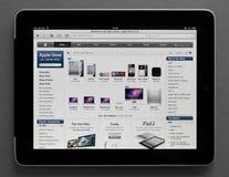 Apple Store en Ipad Fotos de archivo libres de regalías