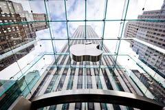Apple Store en Nueva York Imagenes de archivo