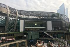 Apple Store in China stock image