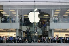 Apple store in  Hong Kong Royalty Free Stock Photography