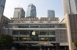 Apple Store in Hong Kong Stockbilder
