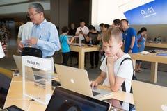 Apple store in Hong Kong Stock Photos