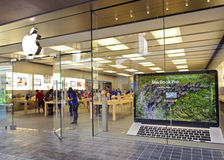 Apple store, Honolulu. The Apple retail store in Honolulu at the Ala Moana Center royalty free stock images