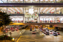 Apple store at IFC mall of Hong Kong. Central, Hong Kong  - December 15, 2016 : Apple store at IFC mall of Hong Kong Royalty Free Stock Photography