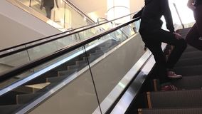 Apple store inside mall stock video footage