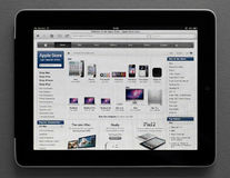 Apple Store on Ipad. Apple Store web page on Apple Ipad screen Royalty Free Stock Photos