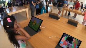 Apple Store kids app stock video