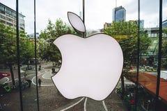 Apple Store logo obrazy stock