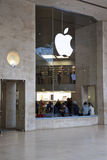Apple store louvre. An apple store in louvre in paris france Royalty Free Stock Photo