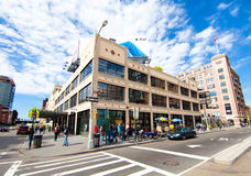 Apple Store in Meatpacking District of New York. Apple Store in Meatpacking District of Manhattan, New York. The Apple Store is a chain of retail stores owned Stock Images
