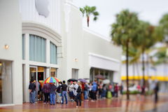 Apple Store Miami Beach tilt shift effect Stock Photography