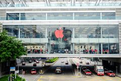 Apple Store nahe Hong Kong stationieren, Hong Kong, China Stockbild