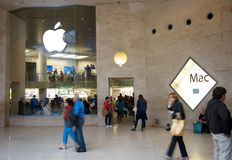 Apple Store next to the Louvre Museum Stock Photos