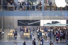Apple Store ocupado Fotografía de archivo