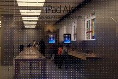 Apple Store przy miasto zatoczką Ześrodkowywa Obrazy Royalty Free