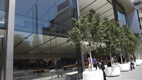Apple Store San Francisco stock video