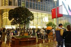 Apple Store in Shanghai, China Stock Photos