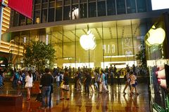 Apple Store in Shanghai, China Royalty Free Stock Photos
