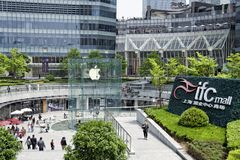 Apple Store in Shanghai, China Stock Photography