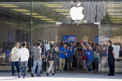 Apple store at Shenzhen, China Royalty Free Stock Image