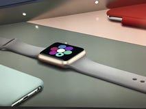 Apple Store som shoppar Royaltyfri Fotografi