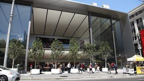 Apple Store Union Square stock footage