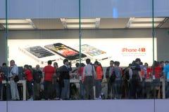 Apple Store visualiza Foto de archivo libre de regalías