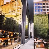 Apple Store Window Reflections. APPLE STORE UNION SQUARE SF Royalty Free Stock Photography