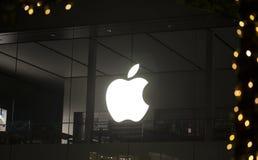 Apple Store-Zeichen Stockfotografie